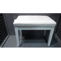 WHITE PIANO BENCH